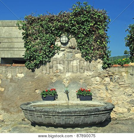 Medieval Stone Water Fountain