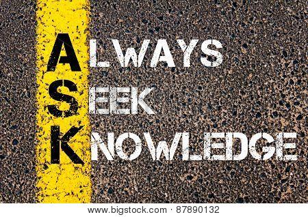 Always Seek Knowledge - Ask Concept
