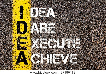 Idea Dare Execute Achieve - Idea  Concept