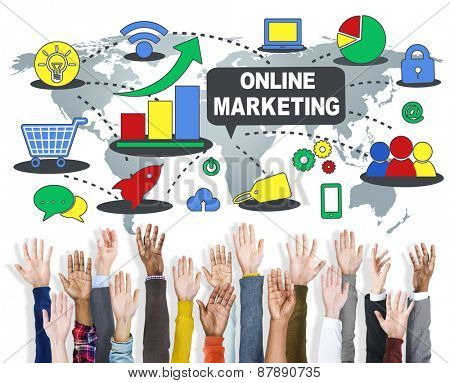 Online Marketing Global Business Commercial Concept