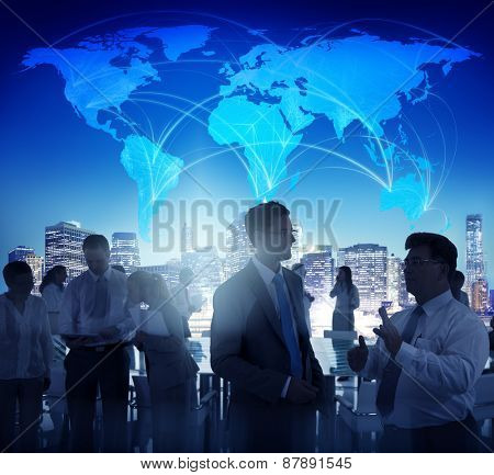 Business People Brainstorming Meeting Global Business Concept