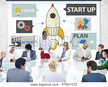Startup Innovation Planning Ideas Team Success Concept