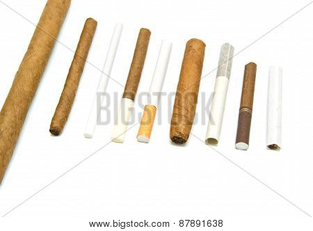 Many Cigarettes And Cigars
