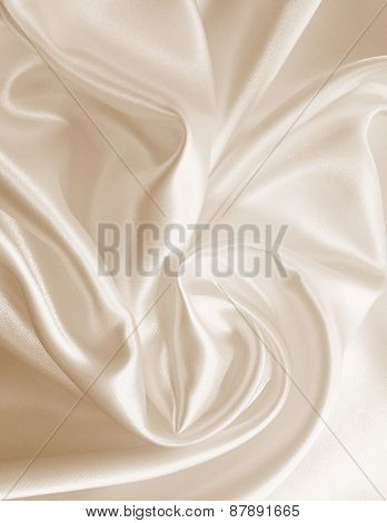 Smooth Elegant  Silk As Wedding Background. In Sepia Toned. Retro Style