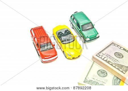 Cars And Dollar Notes