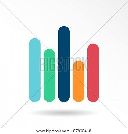 Infographic vector icon. Business emblem template, charts, graphs, presentation, web design scheme