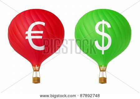 Color Currency Hot Air Balloons