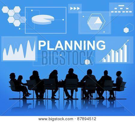 Planning Statistics Financial Marketing Growth Data Concept