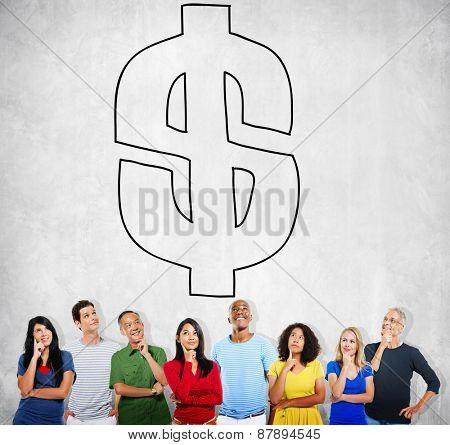 Dollar Money Finance Concept