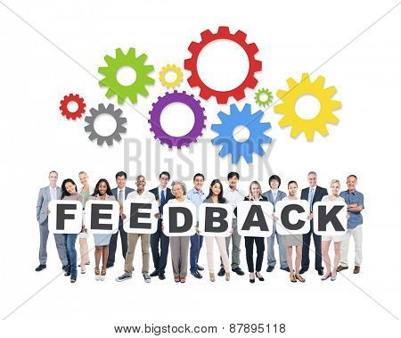 Feedback Business People Team Teamwork Success Strategy Concept