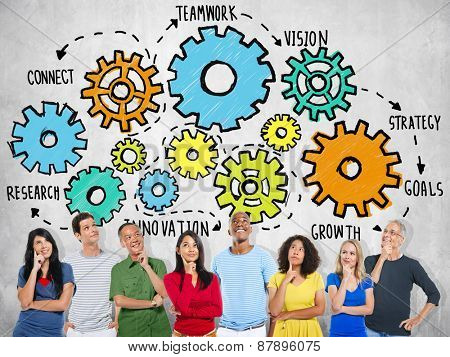 Team Teamwork Goals Strategy Vision Business Support Concept