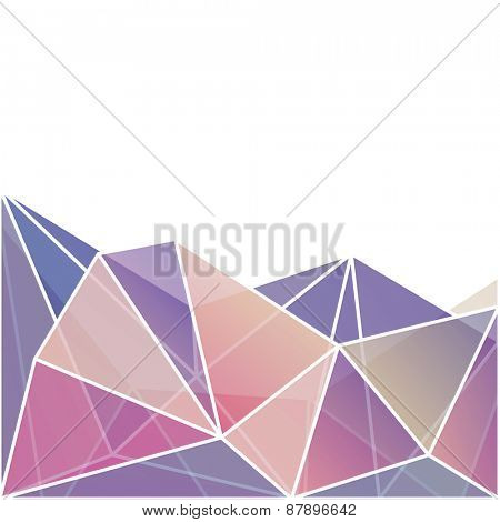 Abstract vibrant geometric triangles background  - raster version