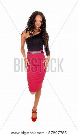 Black Woman Walking.