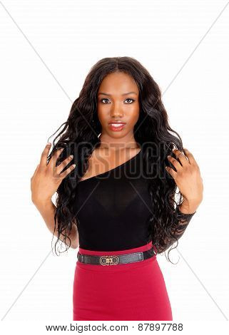Closeup Portrait Of Black Woman.