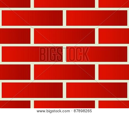 Repeatable Pattern Of Undamaged Brick Wall Texture With Regular Pattern.
