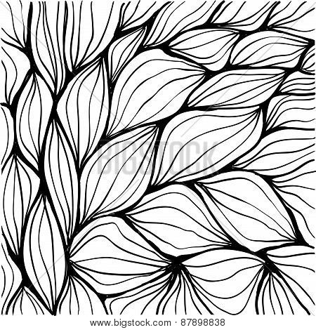 Doodle Abstract Ripples. Seamless Pattern.