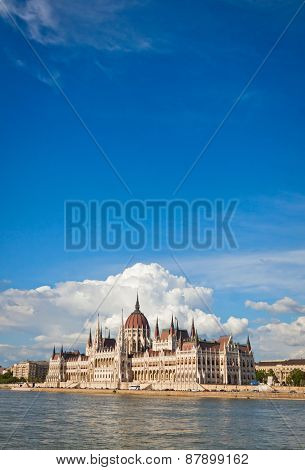 Building Of The Hungarian National Parliament In Budapest