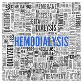 picture of catheter  - Close up HEMODIALYSIS Text at the Center of Word Tag Cloud on White Background - JPG