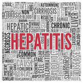foto of hepatitis  - Close up HEPATITIS Text at the Center of Word Tag Cloud on White Background - JPG