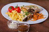 stock photo of shawarma  - Shawarma - JPG
