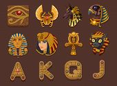 foto of cleopatra  - Symbols for slots game - JPG