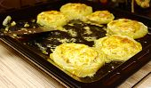 pic of marrow  - stuff vegetable marrow baked in oven on  baking sheet - JPG