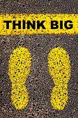 image of big-foot  - Think Big message - JPG