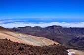 pic of canary  - The view from the observation deck of the volcano Teide in the national Park on the island of Tenerife Canary Islands Spain - JPG