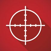stock photo of crosshair  - Illustration of a long shadow crosshair icon - JPG