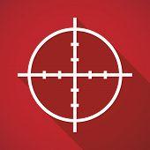 foto of crosshair  - Illustration of a long shadow crosshair icon - JPG