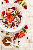 stock photo of fruit bowl  - Breakfast bowl - JPG
