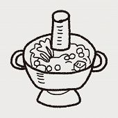 stock photo of chafing  - Chafing Dish Doodle - JPG