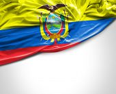 picture of guayaquil  - Ecuadorian waving flag on white background - JPG