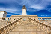 pic of lighthouse  - Majorca Formentor Cape Lighthouse in Mallorca North at Balearic islands of Spain - JPG
