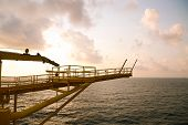 stock photo of offshoring  - Offshore oil and gas production and exploration business - JPG
