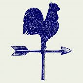 pic of wind-vane  - Cockerel wind vane - JPG