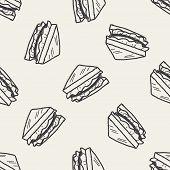 stock photo of sandwich  - Doodle Sandwich - JPG