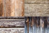 picture of combinations  - Combination of clear wooden boards backgrounds with texture - JPG