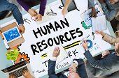 stock photo of recruiting  - Human Resources Employment Job Recruitment Profession Concept - JPG