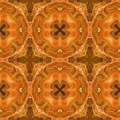 stock photo of kaleidoscope  - Seamless kaleidoscope texture or pattern in orange spectrum 1  - JPG