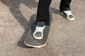 image of skateboarding  - Skateboarder close - JPG