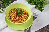 image of chickpea  - Chickpea stew with vegetables - JPG