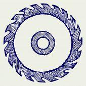 stock photo of sawing  - Circular saw blade - JPG