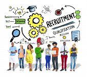 foto of recruiting  - Ethnicity People Recruitment Digital Divices Searching Concept - JPG