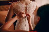 pic of training room  - Stylish elegant glamor morning bride in hotel room - JPG