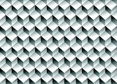 pic of grayscale  - Grayscale 3d Cubes minimal repeatable pattern  - JPG