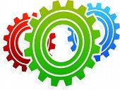 image of gear wheels  - Various gear wheel rack wheel vector graphics - JPG