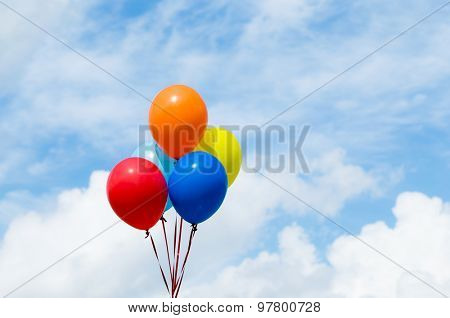 Balloons with sunshine