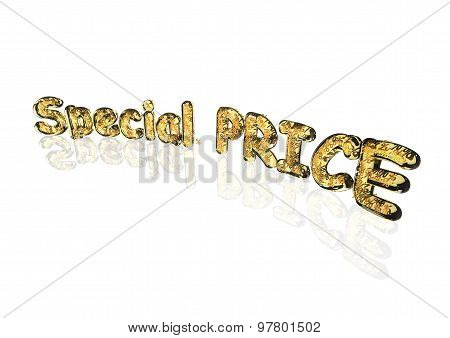 Word Special price made from percentage symbols.