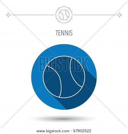 Tennis icon. Sport ball sign.